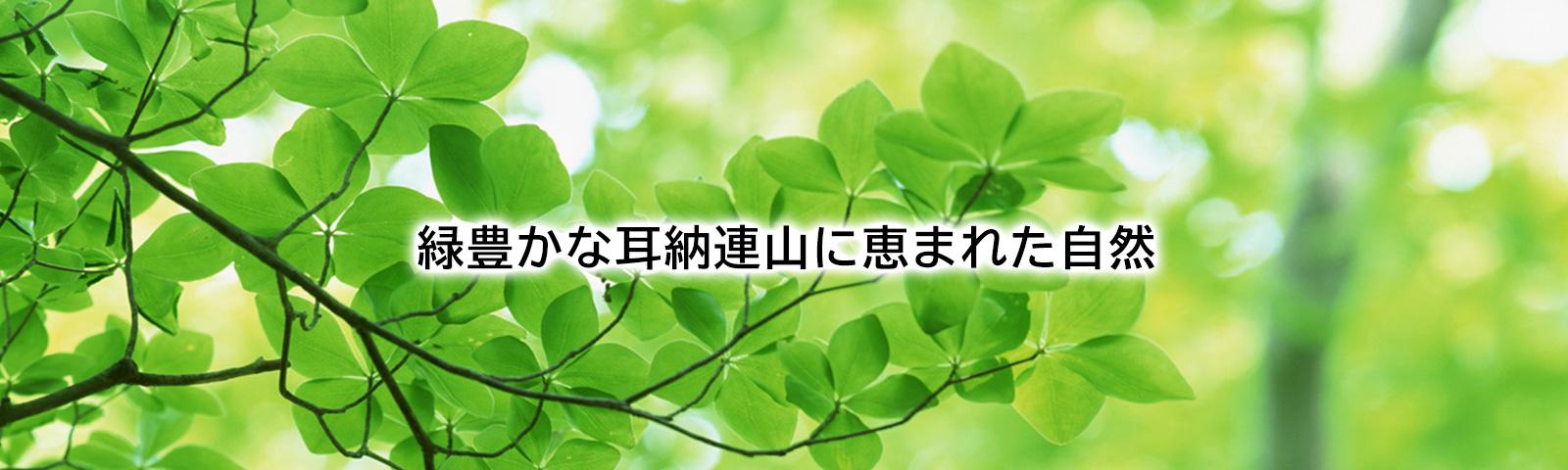 緑豊かな耳納連山イメージ